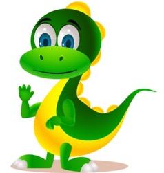 cute dinosaur vector image vector image