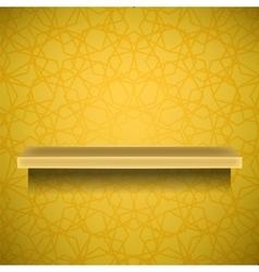 Emty Yellow Shelf vector image