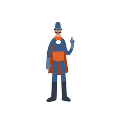 Funny superhero cartoon man character vector