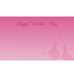 Happy valentine day scenery with dove vector