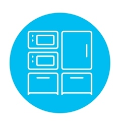 Household appliances line icon vector image vector image