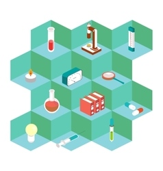 Isometric medical icons For the design of vector image