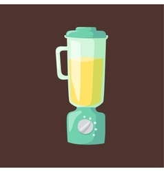 Kitchen blender flat vector