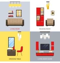 Living Room Set vector image