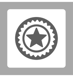 Medal seal icon from award buttons overcolor set vector