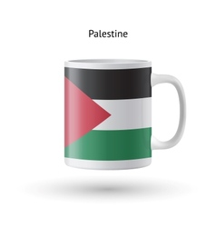 Palestine flag souvenir mug on white background vector