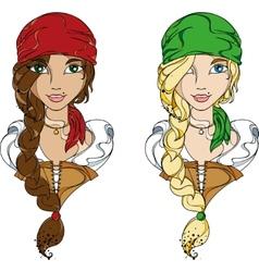 Pirate girls vector