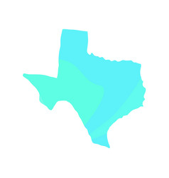 political map of texas vector image