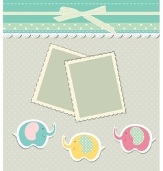 Romantic scrap booking template for invitation vector image