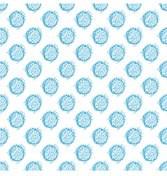Seamless spotted pattern polka dot vector