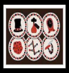 Set collection of drink coasters from wonderland vector
