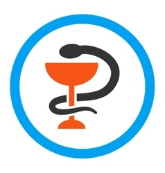 Snake cup rounded icon vector