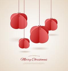 Stylized christmas balls vector image vector image