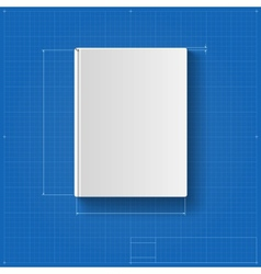 The book drawing with dimensions book cover vector image