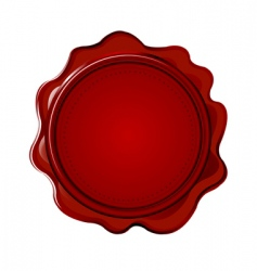 Wax seal with blank field vector