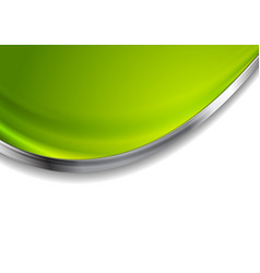 Green blurred abstract background with silver wave vector
