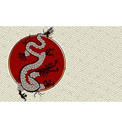 2012 China dragon year background vector image