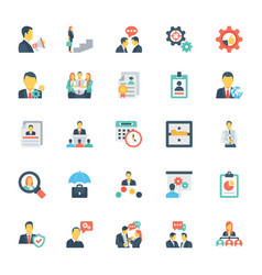 Human resources and management icons 5 vector