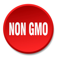 Non gmo red round flat isolated push button vector