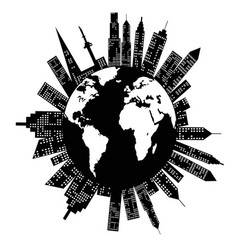 Buildings around the world vector