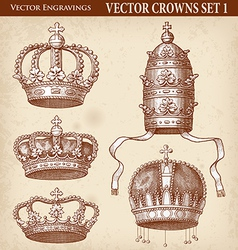 Crown set 01 vector image