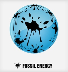 Recycle symbol fossil energy vector