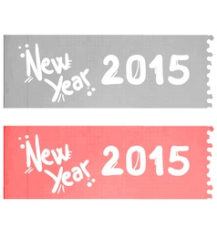2015 new year message vector