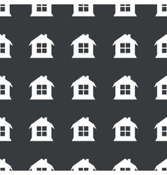Straight black house pattern vector