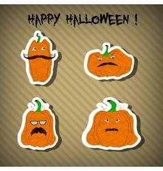 Halloween pumpkins - stickers vector