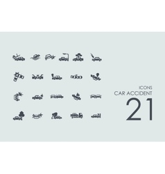 Set of car accident icons vector
