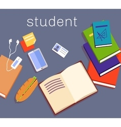 Education work space student design vector