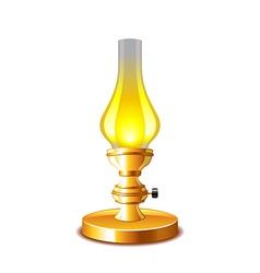 Old kerosene lamp isolated on white vector