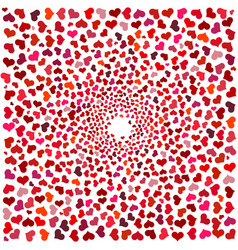 abstract background with red hearts vector image
