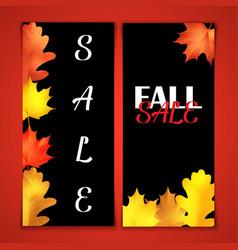 autumn sale brochure black board with chalk vector image vector image