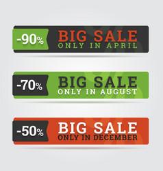 Big sale banners vector image
