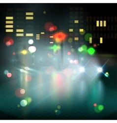blured lighhts in city night vector image vector image