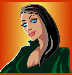 cartoon green witch vector image