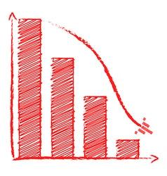 Chart sales fall vector