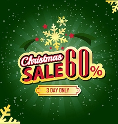 Christmas sale 60 percent typographic background vector