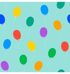Colored balloons seamless pattern vector