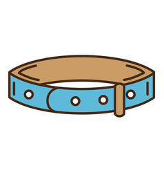 Dog necklace mascot icon vector