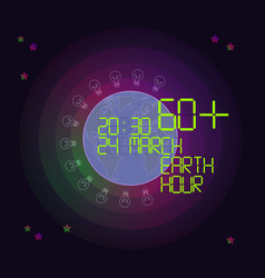 Earth hour concept vector