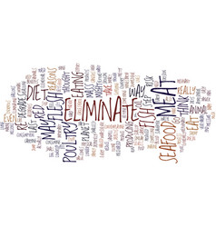 Eliminate seafood text background word cloud vector