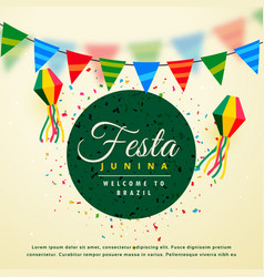 Festa junina holiday background of brazilian vector