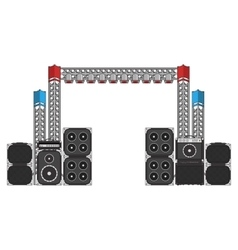 Festival and concert stage equipment vector