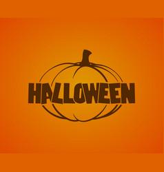 Halloween logo with pumpkins vector