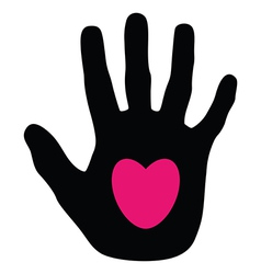 hands love vector image