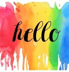 Hello typographic design vector image vector image
