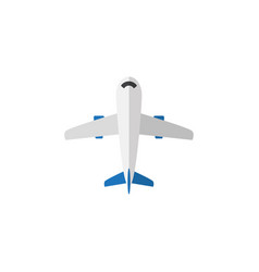 Isolated plane flat icon aircraft element vector