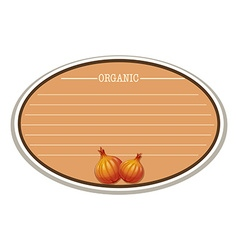 Line paper design with onions vector